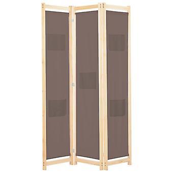 vidaXL 3 قطعة غرفة مقسم البني 120 × 170 × 4 سم النسيج