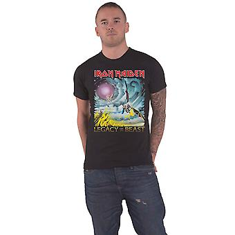 Iron Maiden T Shirt The Flight of Icarus Band Logo new Official Mens Black