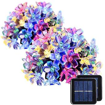 Solar Light String With 7 Meters And 50 Lights, Outdoor Waterproof Holiday Decorative Light String