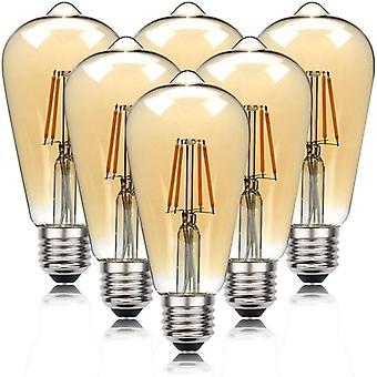 Retro 4w 6w Led E27 Base 220v Warmwhite 2700k Beautiful Bulbs