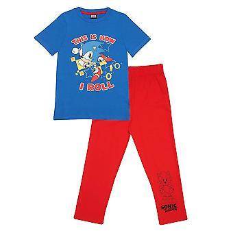 Sonic The Hedgehog Boys Så här rullar jag pyjamas set
