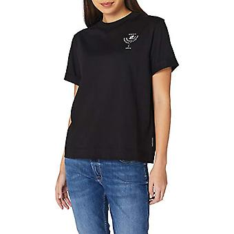 Camiseta scotch &soda relaxed fit con camiseta gráfica core, 0008 negro, S Mujer