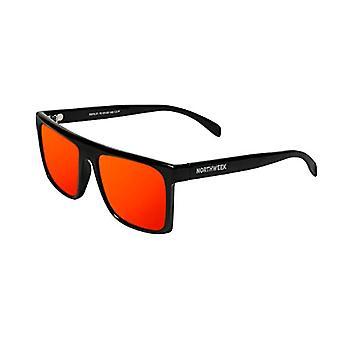 Northweek Hale Sunglasses, Multicolor (Shine Black/Red Polarized), 10.0 Unisex-Adult