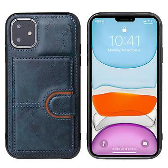 Leather wallet case for iphone 6/6s blue pns-1826