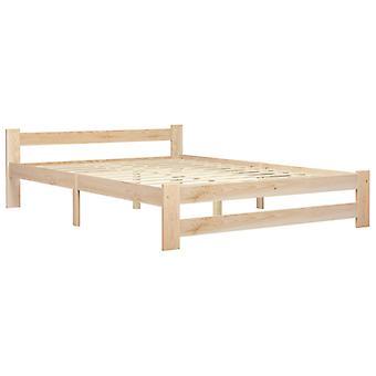 vidaXL bedframe massief hout grenen 140x200 cm
