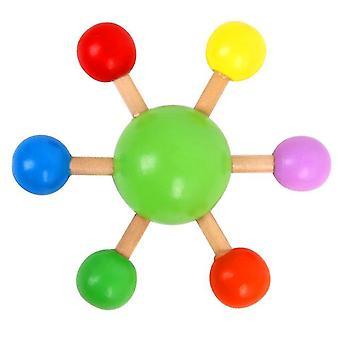 צעצועים חינוכיים צבעוניים ירוקים מסתובבים של ילדים, צעצועי הפחתת לחץ שולחן עבודה מהנים az5266