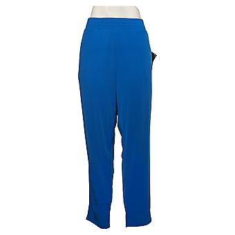 IMAN Global Chic Women's Pants Ankle Pant with Pockets Blue 741779VR7