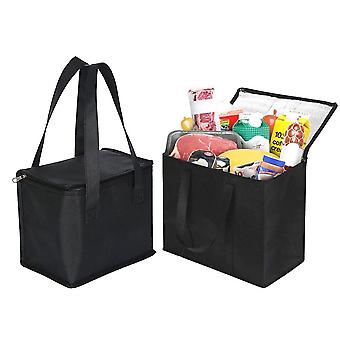 Portable Lunch Box Cooler Bag Folding Insulation Picnic Ice Pack Outdoor Food Thermal Drink Carrier Tote Handbag