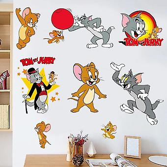 Tom And Jerry Anime 3d Wall Stickers Creative Pvc Self Adhesive Wallpaper Peel And Stick Diy Wall Decal For Baby 70x85cm