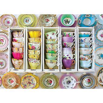 Eurographics Tasses de thé colorées Puzzle (1000 pièces)
