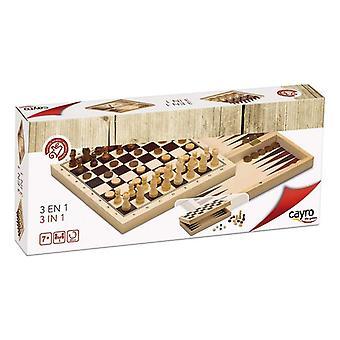 Állítsa cayro 3 az 1-ben Chess Backgamon Ladies