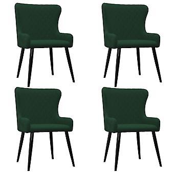 vidaXL dining chairs 4 pcs. green velvet