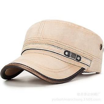 New Winter Flat Cap, Outdoor Sun Protection Ear Hat(Khaki)