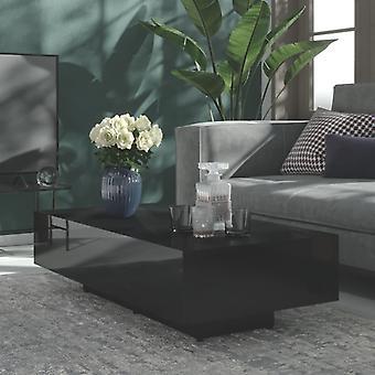 """שולחן קפה vidaXL מבריק שחור מבריק 115x60x31 ס""""מ שבב"""