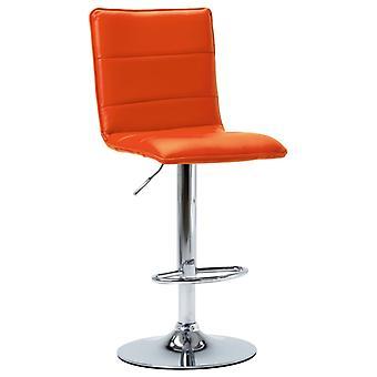 vidaXL Bar Krakk Oransje Syntetisk Skinn