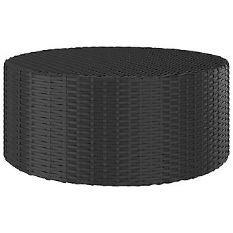 vidaXL Tea Table Black 68x68x30 cm Poly Rattan