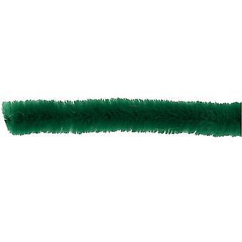 50 Donkergroene 6mm Pipe Cleaners | Chenille Stengels