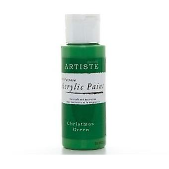 Christmas Green docrafts Artiste All Purpose Acrylique Craft Paint - 59ml