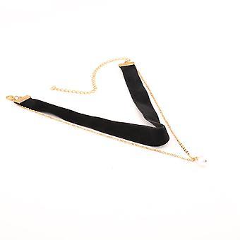 10Pcs Trendy Multicolor Velvet Artificial Pearl Choker Women Necklaces