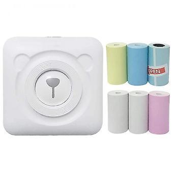 Mini Portable Thermal Label Peripage Printer Travel Wireless Printers(White)