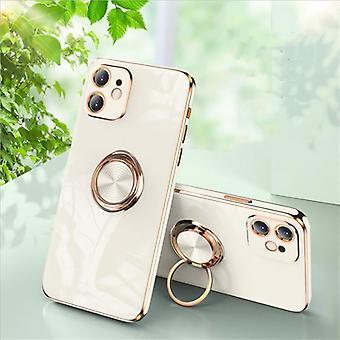 iPhone 12 y iPhone 12 Pro Shell lujosamente elegante con soporte de anillo característica de oro
