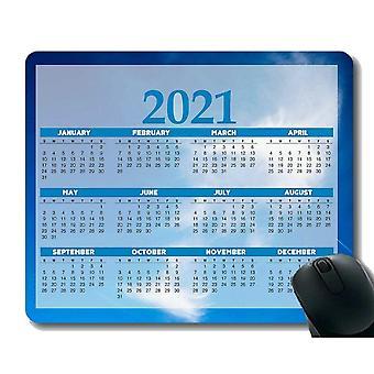 (300x250x3) kleurrijk jaar 2021 kalender muismat gaming muismat, wolken in blauwe lucht muismatten