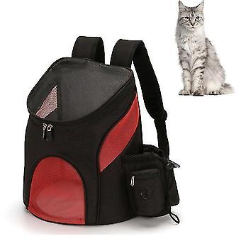 Go Out tragbare faltbare Haustier Katze und Hund tragen Rucksack, Größe: S (schwarz rot)