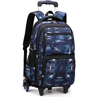 Three-piece Trolley School Bag For Middle School Students With Multi-layer Breathable Backpackcolor-2