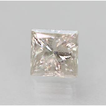 Certificado 0,58 Quilate f SI2 Princesa Aprimorada Diamante Solto Natural 4.56x4.56mm