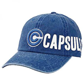 Dragon Ball Z Capsule Corp. Side Logo Pigment Dye Adjustable Hat