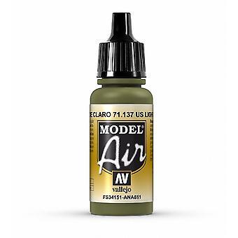 Vallejo Model Air 137 US Light Green (FS34151) - 17ml Acrylic Airbrush Paint