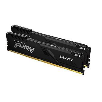Kingston Fury Beast 32GB Kit (2 x 16GB), DDR4, 2666MHz (PC4-21400), CL16, DIMM Speicher
