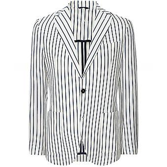 Circolo 1901 Slim Fit Henley Stripe Jacket