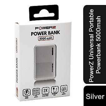 PowerZ Universal Portable Powerbank 5000mah - Argintiu