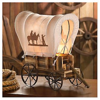 Accent Plus Covered Wagon Western-Style Table Lamp, Pack of 1