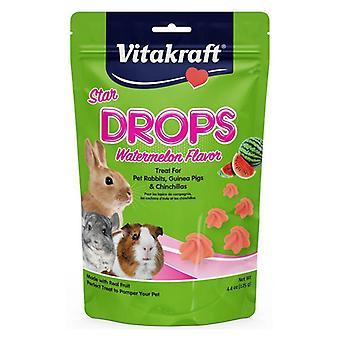 Vitakraft Star Drops Treat for Rabbits, Guinea Pigs & Chinchillas - Watermelon Flavor - 4.75 oz