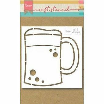 Marianne Design Craft Stencil Beer Mug di Marleen Ps8063 149x149mm