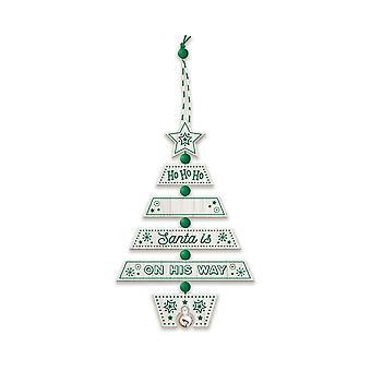 Geschichte & Heraldik Weihnachtsbaumschmuck - Santa Grün/Weiß 269800004 Holz handgefertigt