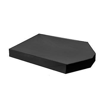 Cubierta de arenero de arena de gato para niños con forma de bote (160 * 113 * 22 cm) (negro)