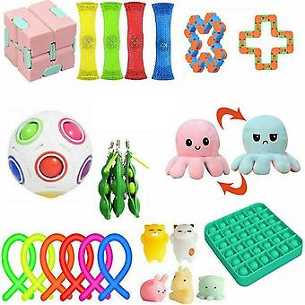 24 Pack Toys Set Sensory Tools Bundle Stress Relief Hand Kids Toy
