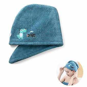 Twist Quick Dry Hair Towel For Wet Hair Dry Hair Cap Quick Dry Towel Absorbent Cap (blue