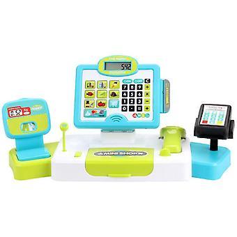 Cash Register Toy With Cuttable Food Scaner Calculator Cash Register For Toddler