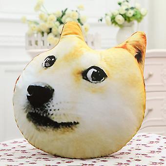 Personality Creative 3d Big Dog Head Pillow Husky Plush Toy