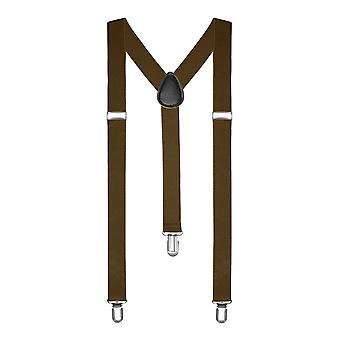 Clip-on Adjustable Unisex Mens Women Pants Fully Elastic Y-back Suspender Braces