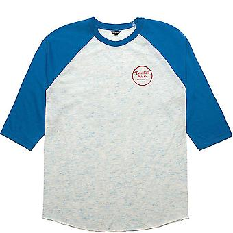 Brixton Wheeler manga 3/4 Baseball t-shirt Royal