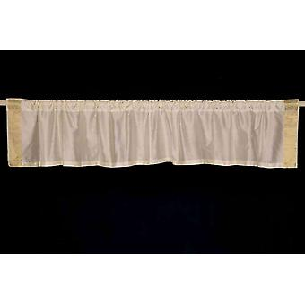 Cream - Rod Pocket Top It Off handmade Sari Valance - Pair