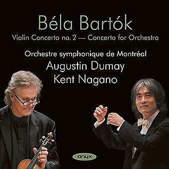 Bartok / Augustin Dumay - Violin Concerto No 2: Concerto for Orchestra [CD] USA import
