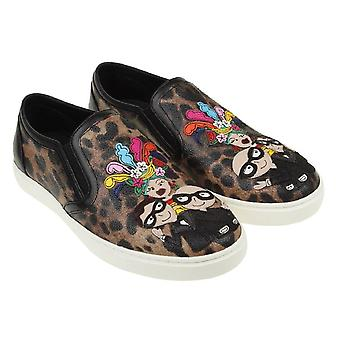 Sneakers slip-on stampa animale Dolce & Gabbana donna