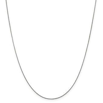 925 plata esterlina sólido pulido anillo de resorte 0.5mm collar de cadena de curva fina - longitud: 16 a 30