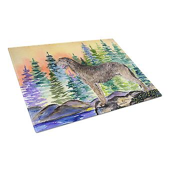 Carolines Treasures  SS8205LCB Irish Wolfhound Glass Cutting Board Large